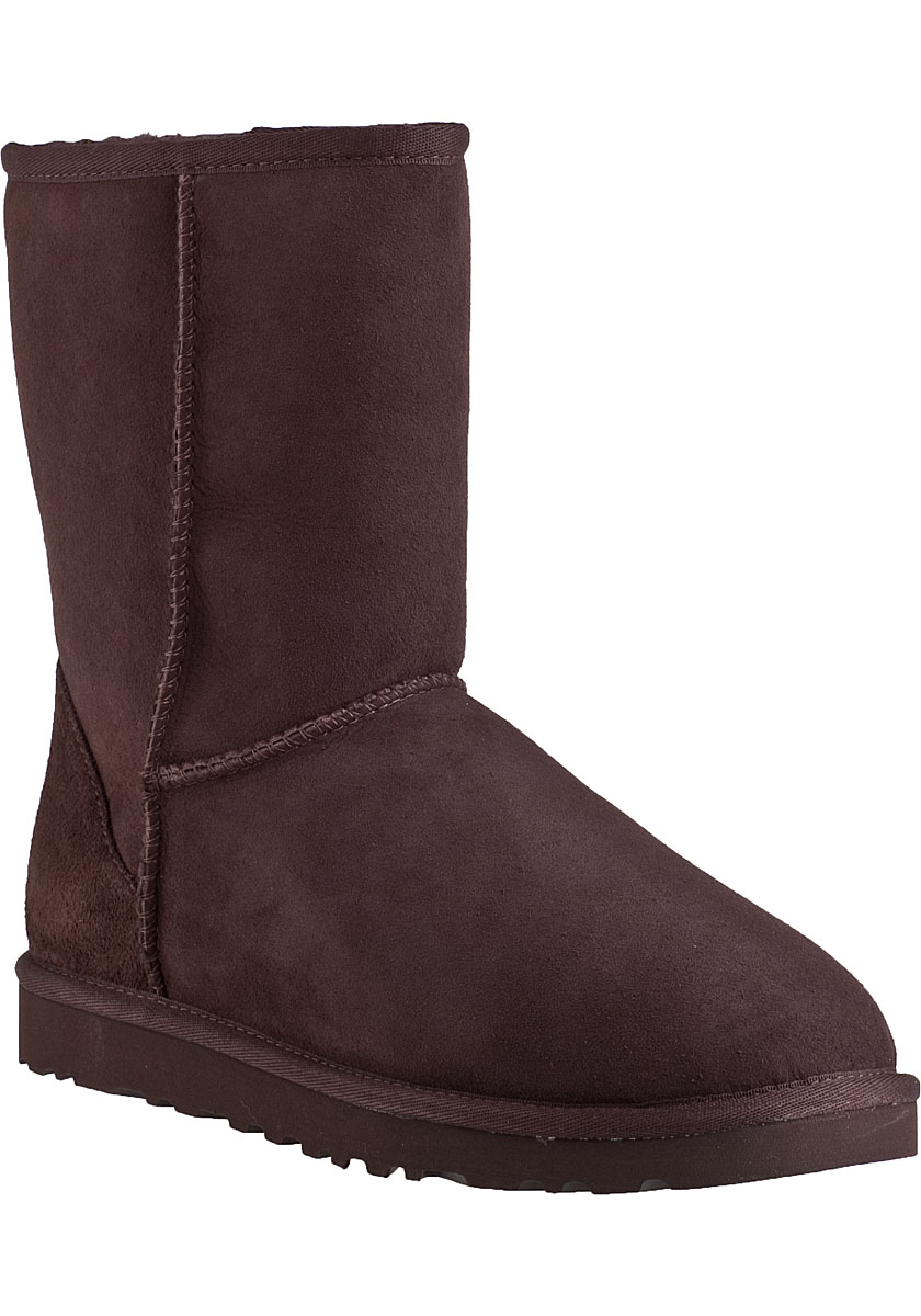 ugg classic short boot chocolate brown