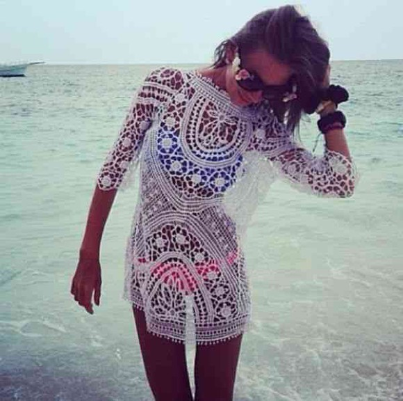 blouse lace white lace white lace top swimsuit coverup lace coverup long sleeve blouse long sleeve lace top beach