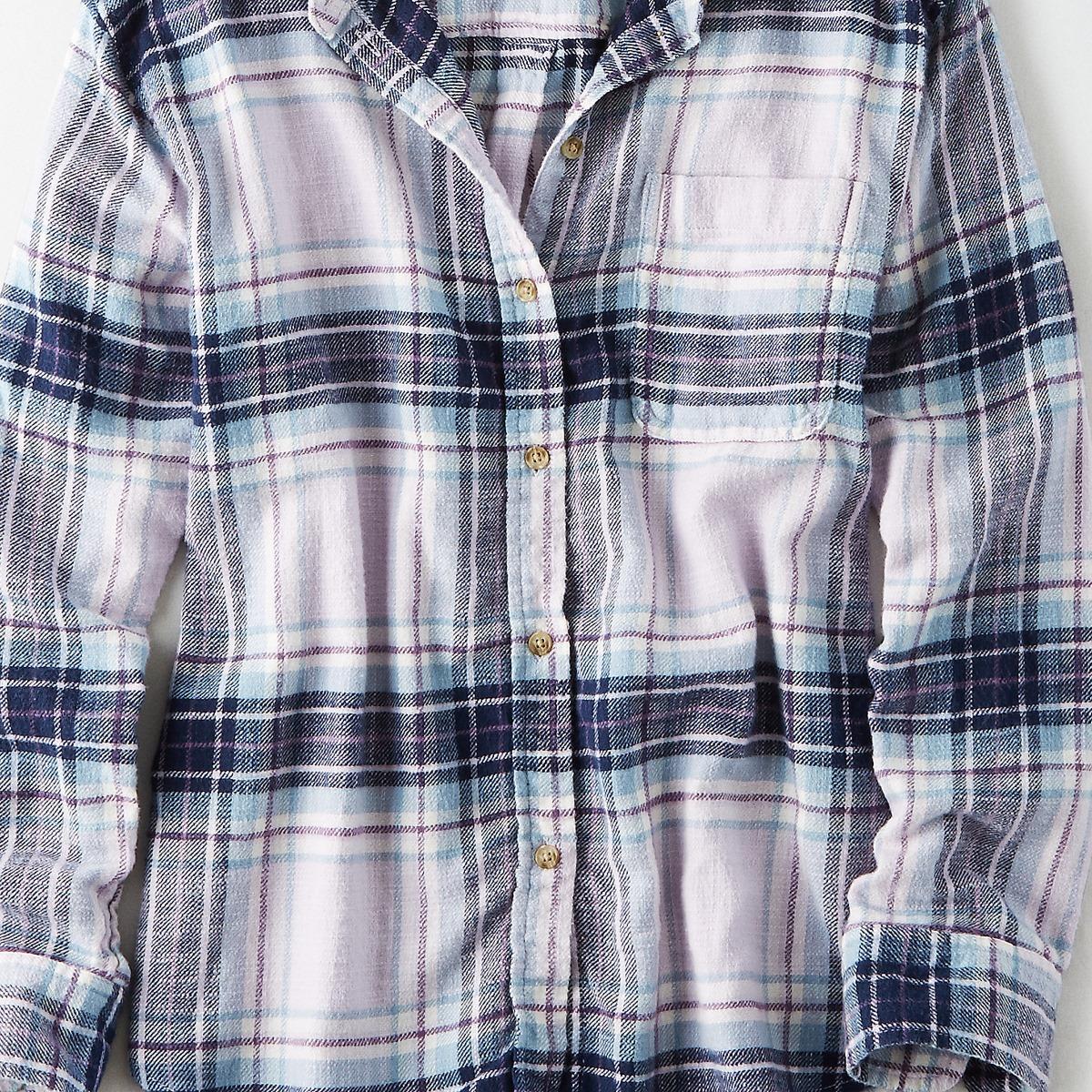AEO Ahh-Mazingly Soft Boyfriend Plaid Shirt