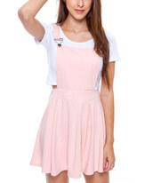 dress,light pink,zulily,overall dress,skater dress,romper