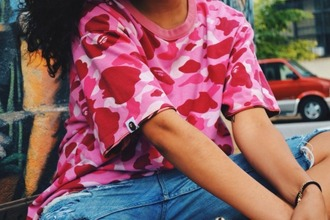 shirt pink camouflage red