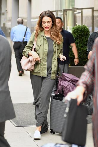 dress jacket jessica alba maxi dress streetstyle spring outfits