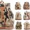 Vtg style carpet tapestry rucksack cat,horse,teddy,rose | ebay uk