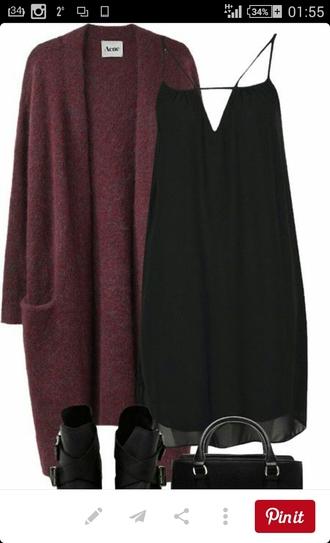 dress black dress little black dress slipon chiffon dress mini dress petite cardigan