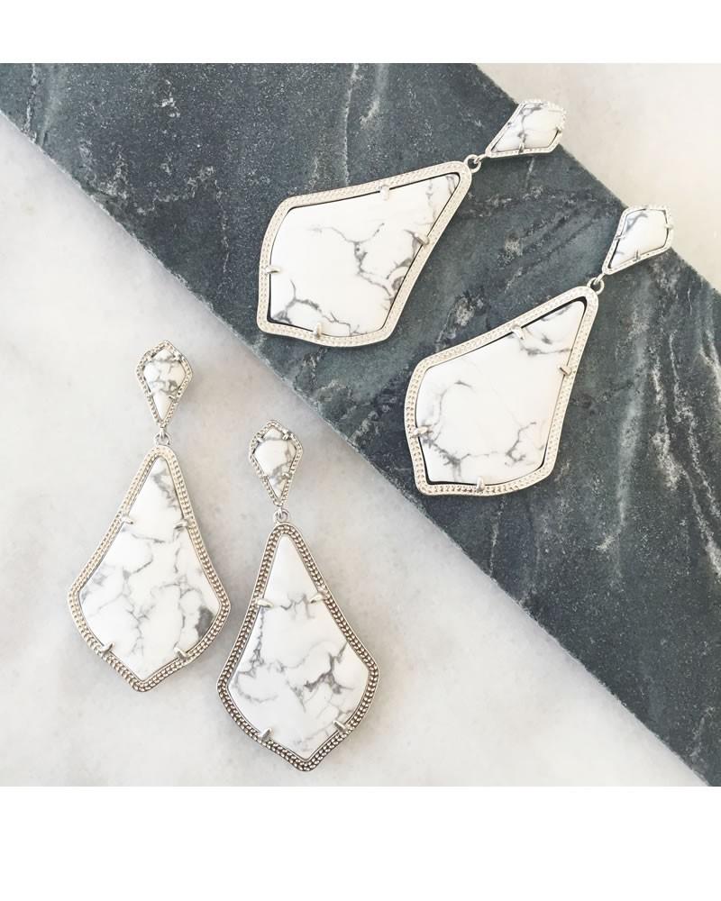 aaa86b3732bd3 Alexis Earrings in White Howlite - Kendra Scott Jewelry