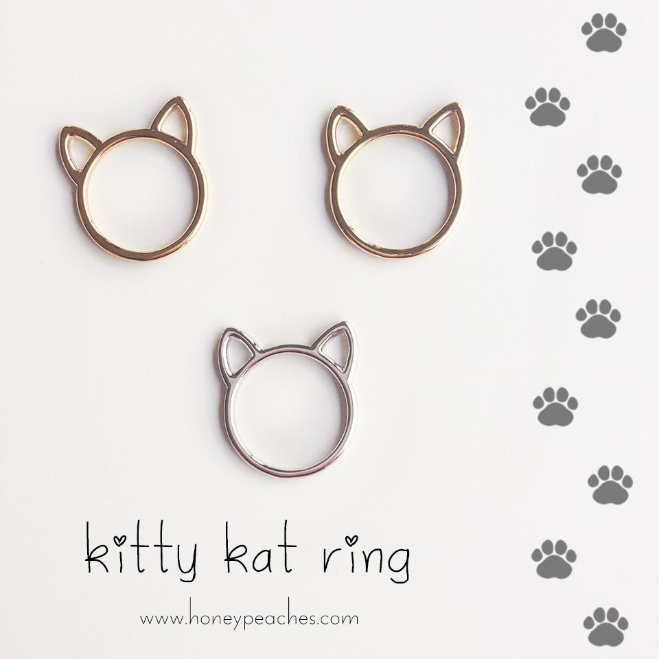 Kitty kat ring – honey peaches