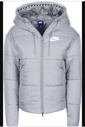 jacket grey blue nike coat winter coat puffer jacket nike puffer jacket cropped cropped jacket white black warm fall coat style cool women hooded jacket