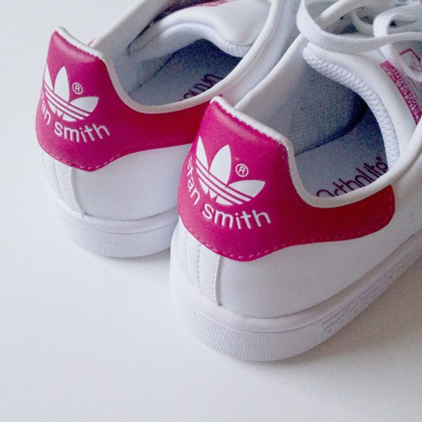 shoes adidas shoes addidas shoes white hightops style stan smith pink adidas