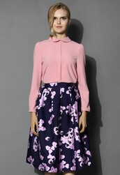 top,chicwish,loving blouse,sakura pink blouse,fashion and chic