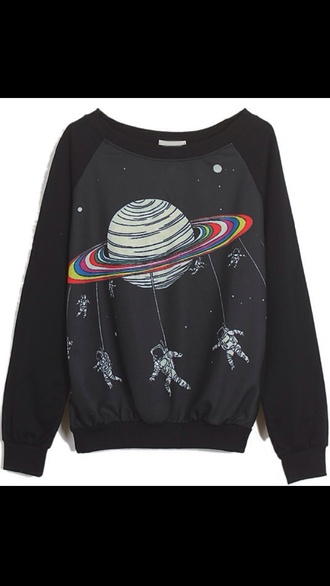 space rainbows astronauts jumper rainbow black sweater jacket sweatshirt science galaxy print saturn hoodie baseball shirt crewneck tumblr tumblr outfit tumblr girl tumblr shirt tumblr sweater tumblr top tumblr fashion tumbrl outfits aesthetic tumblr tumblr grunge tumblr style girly outfits tumblr galaxy shirt galaxy sweater galaxy top galaxy print tshirt sweater weather printed sweater oversized sweater funny sweater black sweater fall outfits fashion style trendy