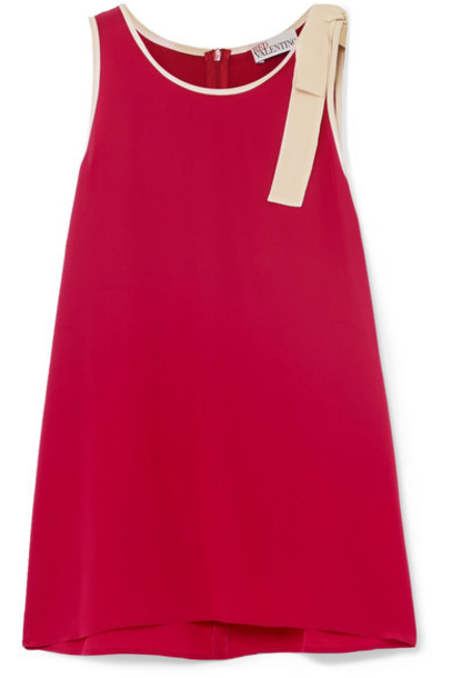 REDValentino top bow embellished silk red