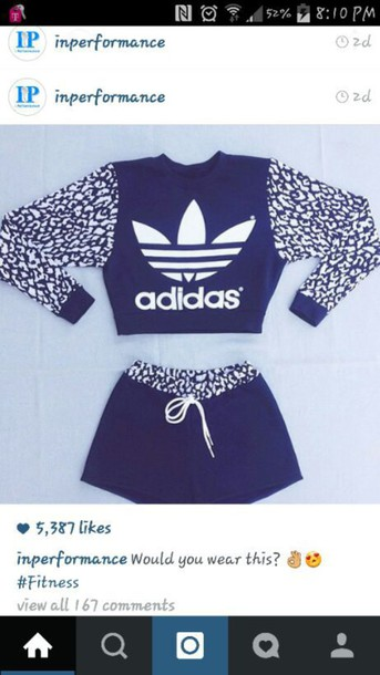 Jumpsuit Adidas Long Sleeves Shorts Design Cute Swag Top Swag