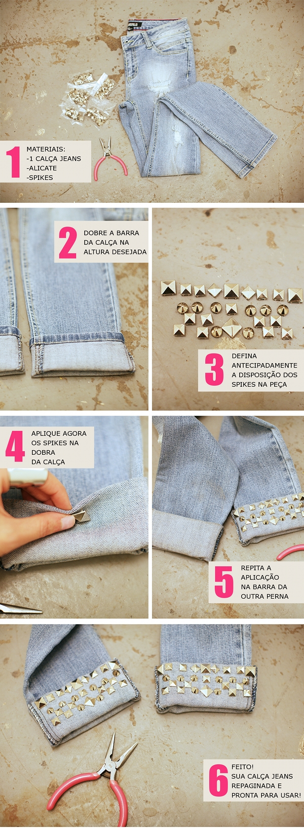 DIY: Customizar calça jeans | Decor e Salto Alto - Blog de Moda