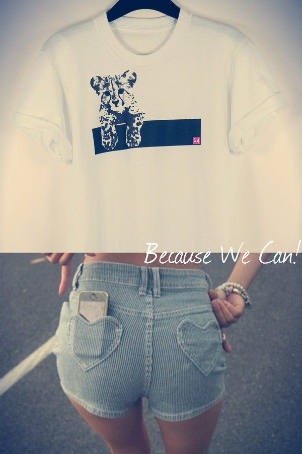 t-shirt shorts sexy casual animal crewneck white pink blue jewels cats love too cute cute gangsta london london style streetwear streetstyle