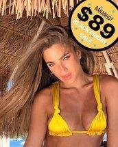 bikini top,yellow bikini top,swimwear