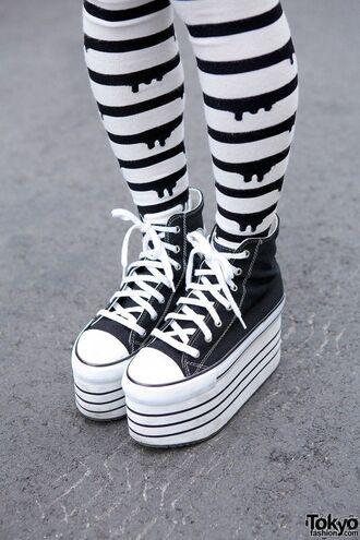 socks drip pastel pastel goth black and white
