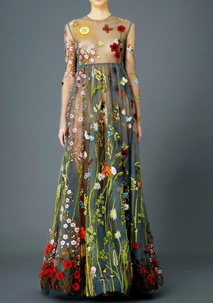 dress floral dress flowers floral dress floral cute beautiful gorgeous