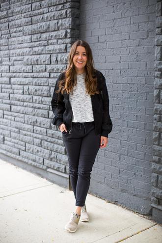 sequins and stripes blogger jacket pants shoes shirt skirt bag