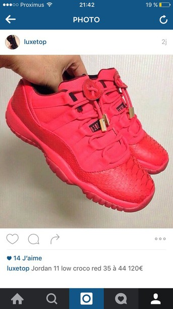 63c02c0fca0 shoes jordan sneakers nike red croco jordans concord 11 croco print luxury  pink sneakers jordans low