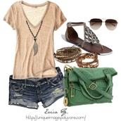 shorts,bag,purse,cute,shirt,jewels,t-shirt,v-neck shirt,shoes,top