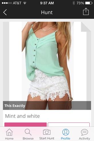 shorts blouse shirt