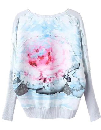 sweater brenda shop wide top pullover jumper floral floral sweater