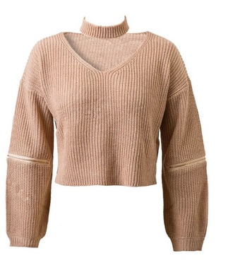 sweater knitted sweater knit v neck