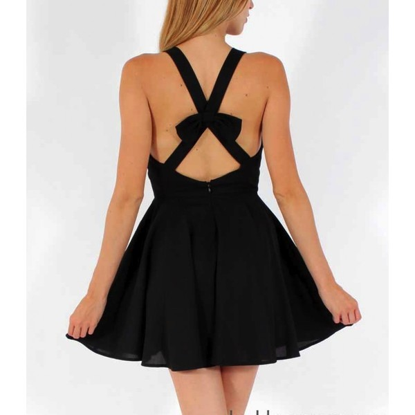 dress bows little black dress cute dress
