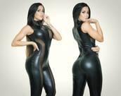 pants,sexy black catsuit,black,jumpsuit,gorgeous,sexy