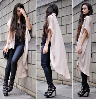 coat cape cardigan rose pink floaty