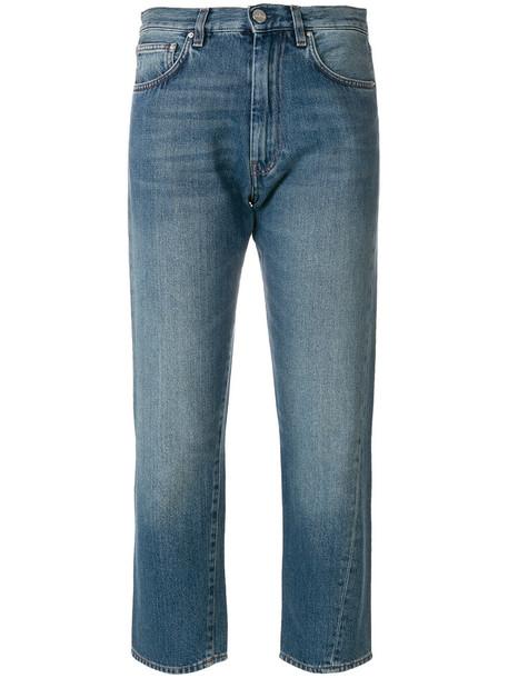 Totême jeans cropped women cotton blue