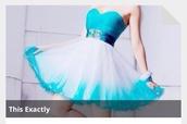 dress,extravagant,prom dress,cute dress,nice,white dress,light blue dresses,blue dress,bling dress,belt,ribbon,diamonds
