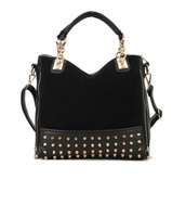 bag,black,studs,gold,studded bag