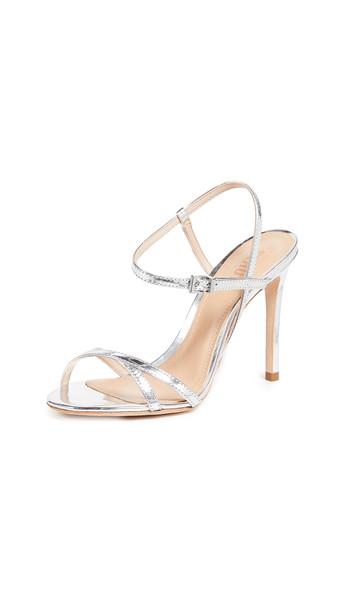 Schutz Opal Strappy Sandals in silver