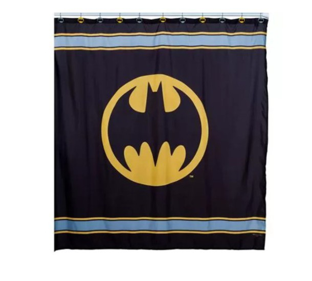 Home Accessory Batman Shower Curtain Marvel Superheroes Bathroom