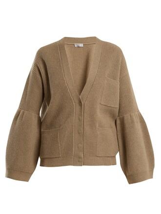 cardigan knit beige sweater