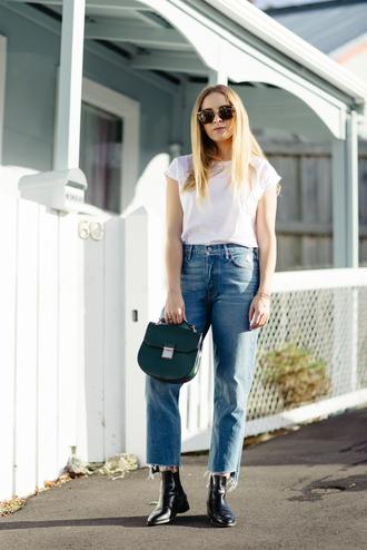 stoleninspiration blogger t-shirt jeans sunglasses shoes bag