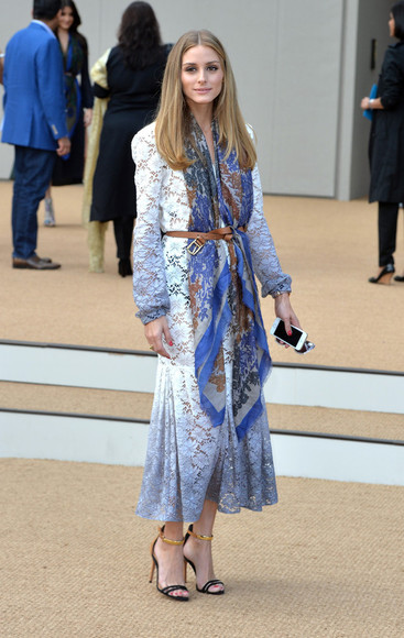 olivia palermo dress fashion week 2014 scarf