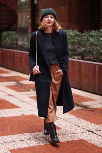 jane's sneak peak blogger wool coat winter coat rust cropped pants