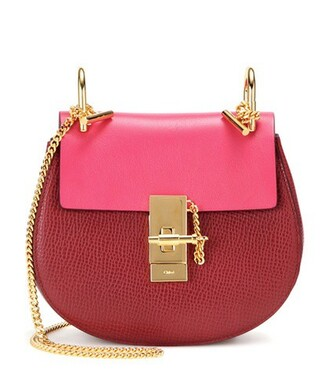 mini bag shoulder bag leather pink