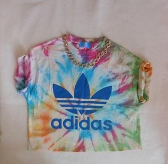 top adidas adidas tye dye tshirt adidas crop top tye dye shirt adidas shirt underwear