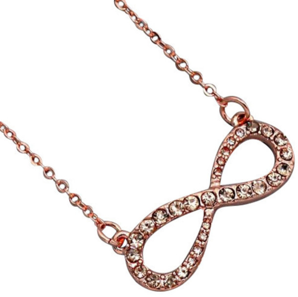 jewels infinity rose gold multi diamond anarchy street jewelry infinity necklace necklace