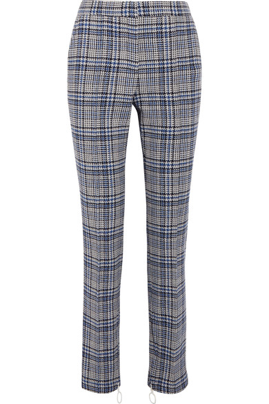 55f56613cf9c Off-White - Prince of Wales checked woven skinny pants