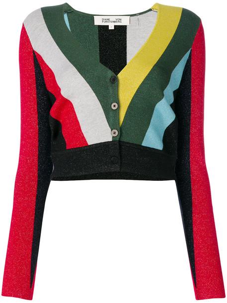 Dvf Diane Von Furstenberg cardigan cardigan cropped metallic women spandex sweater