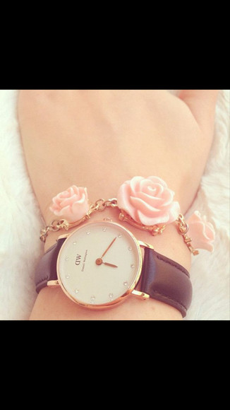 jewels watch gold rosy style rose bracelet gold bracelets