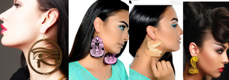 earing earrings egyptian melody ehsani ehsani snake eye