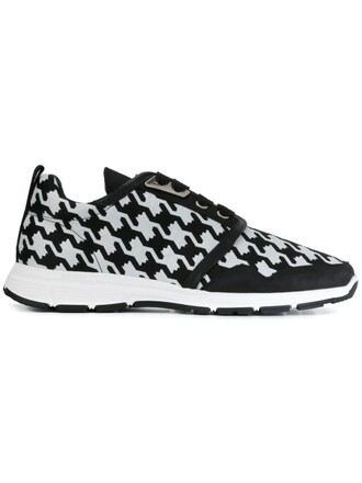sneakers print black shoes