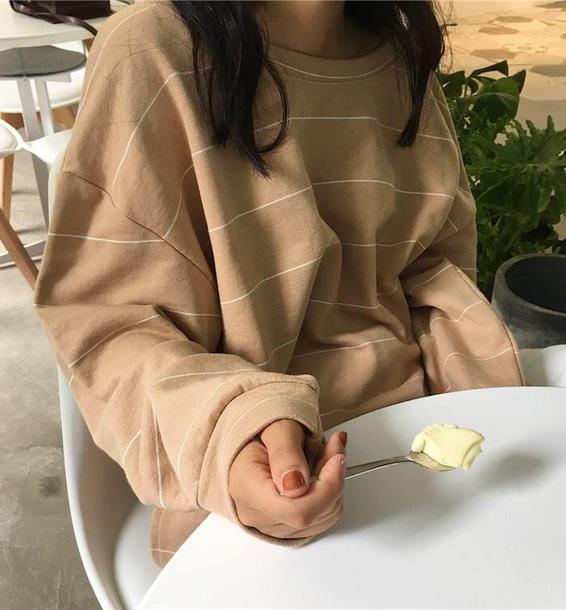 sweater girly sweatshirt nude stripes striped top tumblr