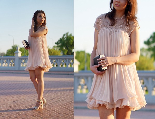 dress apricot beaded dress beaded ruffle aliexpress