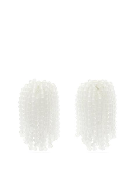 VANDA JACINTHO Shower crystal earrings in white